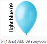 """Воздушный шар 5"""" пастель голубой"""