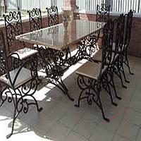 Кованые стулья и столы для ресторана и кафе 75