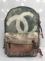 Женская сумка-рюкзак Chanel 1095  граффити, тканевый