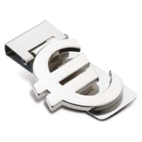 Зажим для денег металлический  Евро