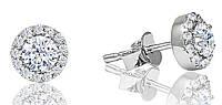 Серьги гвоздики серебро 925 пробы диам. 7мм