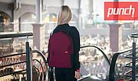 Стильный женский рюкзак PUNCH CRYPT, Burgundy