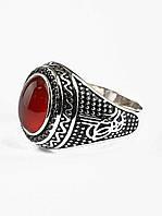 Кольцо с натуральным камнем Сердолик