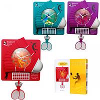 Часы настенные Детские с маятником Бадминтон кварц. пластик