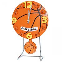 Часы настольные Детские с маятником Баскетбольный мяч кварц.пластик