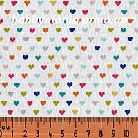 Разноцветные сердечки. 100% хлопок, США. LO-3