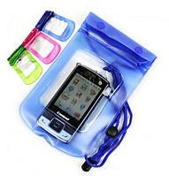Аквабокс - водонепроницаемый чехол для телефона и документов Синий, фото 1