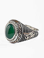 Кольцо с камнем Хризопраз