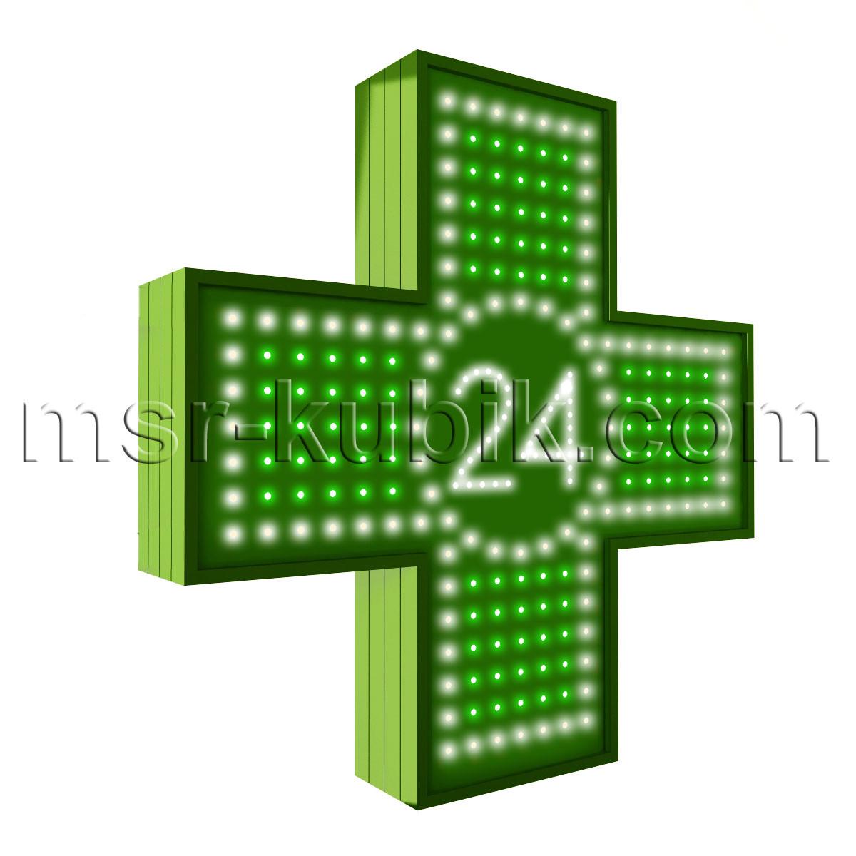 """Аптечний хрест 600х600 світлодіодний односторонній. Серія """"Twenty-Four"""""""