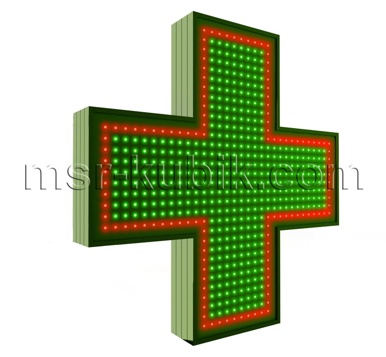 """Хрест для аптеки 750х750 світлодіодний. Серія """"Standart Plus""""."""