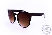 Стильные солнцезащитные матовые очки Броулайнеры - Коричневые - 2015-226, фото 1