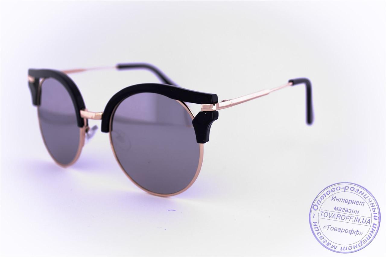 Женские гламурные очки Кошачий глаз - Черные - 1051