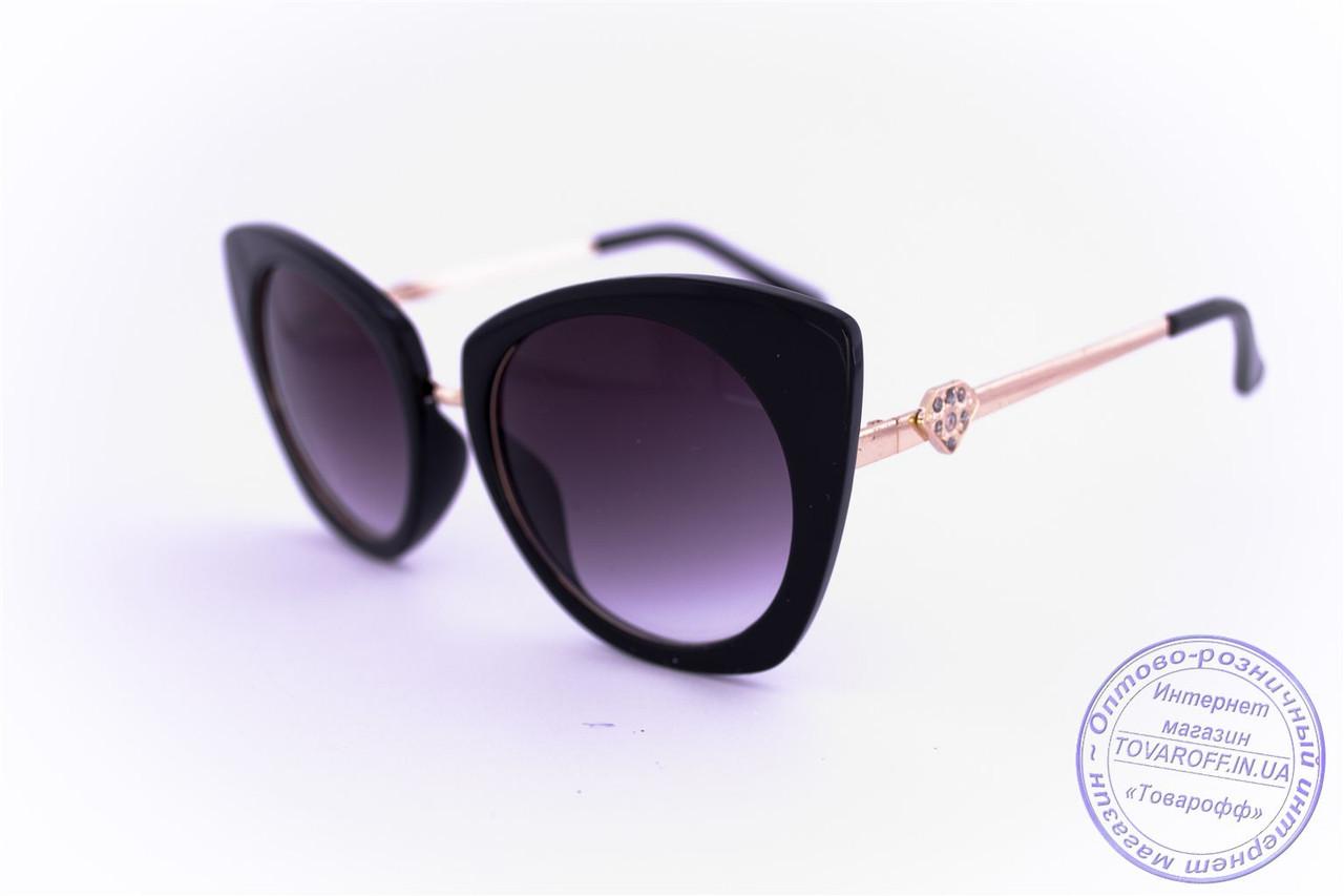 Гламурные женские очки Кошачий глаз - Черные - 3506