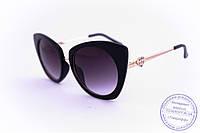 Гламурные женские очки Кошачий глаз - Черные - 3506, фото 1