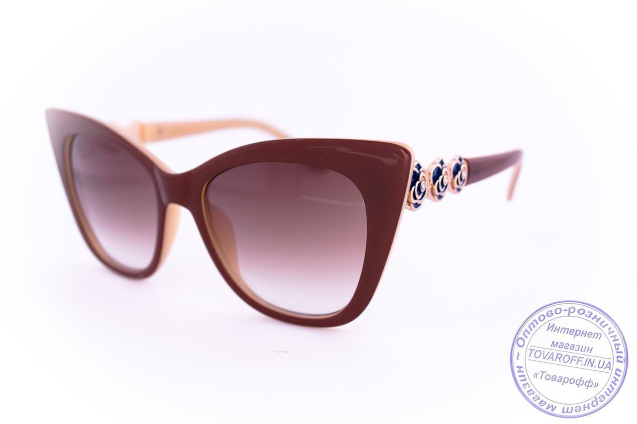 Стильные ретро очки Кошачий глаз - Коричневые - 1510