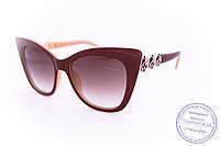Стильные ретро очки Кошачий глаз - Коричневые - 1510, фото 1