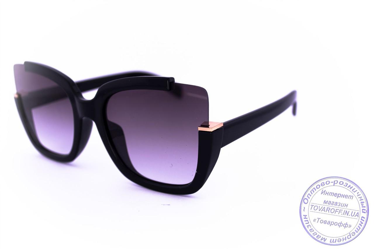 Оригинальные квадратные солнцезащитные очки - Черные - 1520