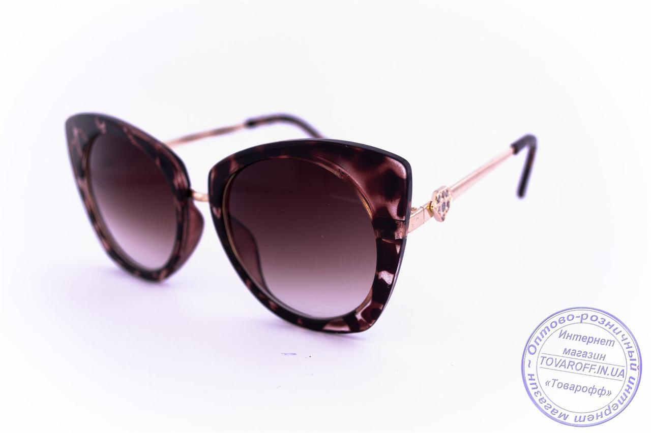 Гламурні окуляри жіночі Котяче око - Коричневі - 3506