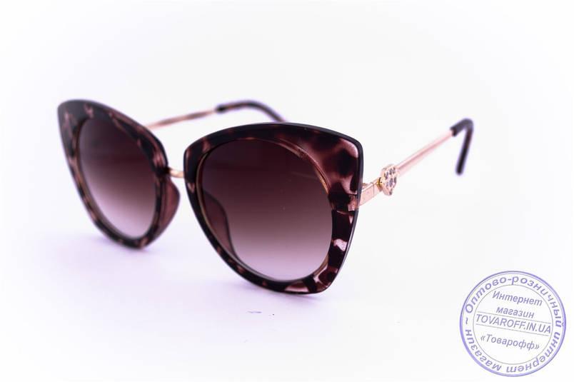 Гламурні окуляри жіночі Котяче око - Коричневі - 3506, фото 2