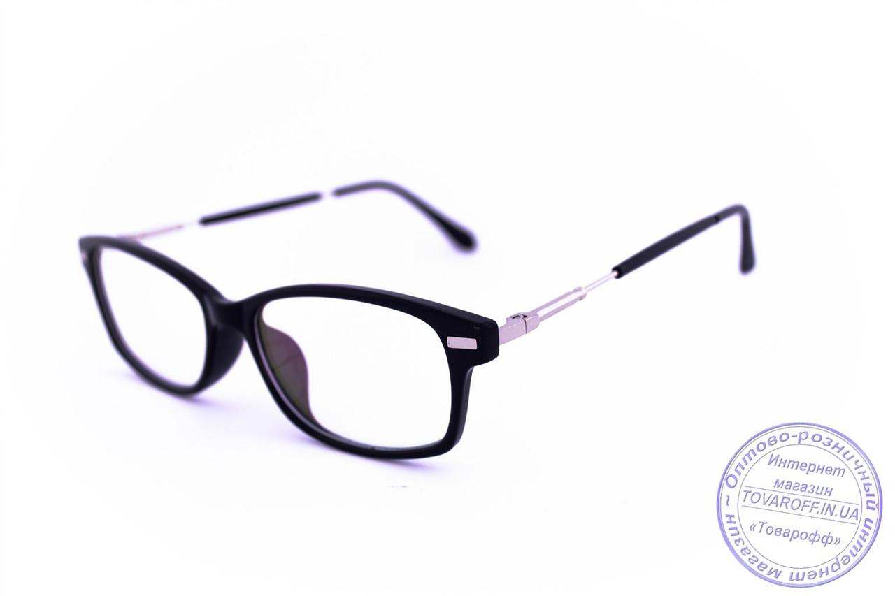 Имиджевые классические очки - Черные - 3622