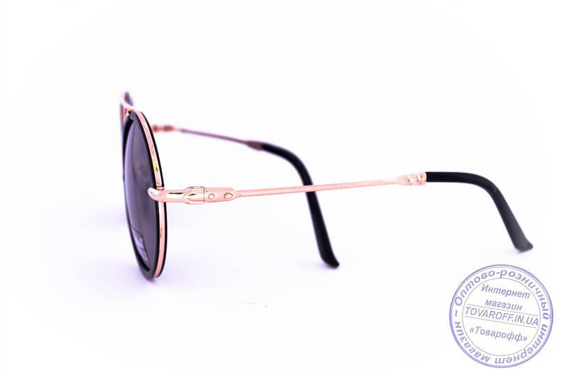 Круглі окуляри - Чорні - 53023, фото 2