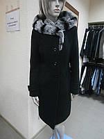Пальто демисезонное с мехом кролика