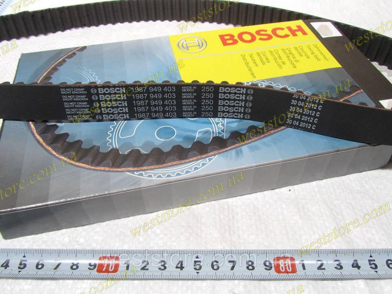 Ремень ГРМ (распредвала) Ланос Авео Lanos Aveo Lacetti 1.6 16V Bosch (Бош) 1987949403\96183352