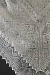 097 825 05 88. Оренбургский пуховый  платок 130х130 см. Белый. Без этикетки., фото 2