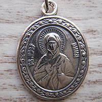 Серебряная подвеска-ладанка Святая Анна