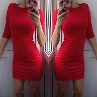 Красивое повседневное платье не дорого красное
