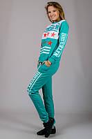 Спортивный костюм женский трикотажный BROOKLYN (бирюзовый)