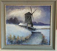 Картина в подарок «Старая мельница»