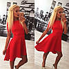 Красивое праздничное платье красное