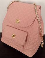 Рюкзак женский Chanel розовый Шанель , фото 1