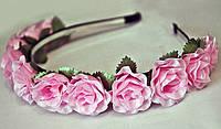 Ободок для волос Розовые розы