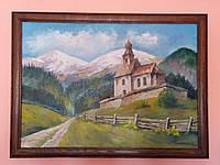 Современная масляная живопись картина «Карпаты»