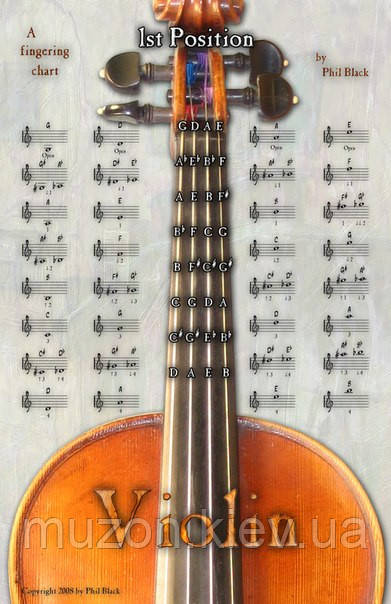 Наклейки-подсказки для скрипки