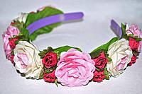 Женский ободок с цветами