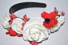 Оригинальный обруч с цветами