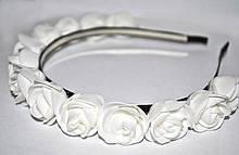 Обруч женский для волос Белые розы