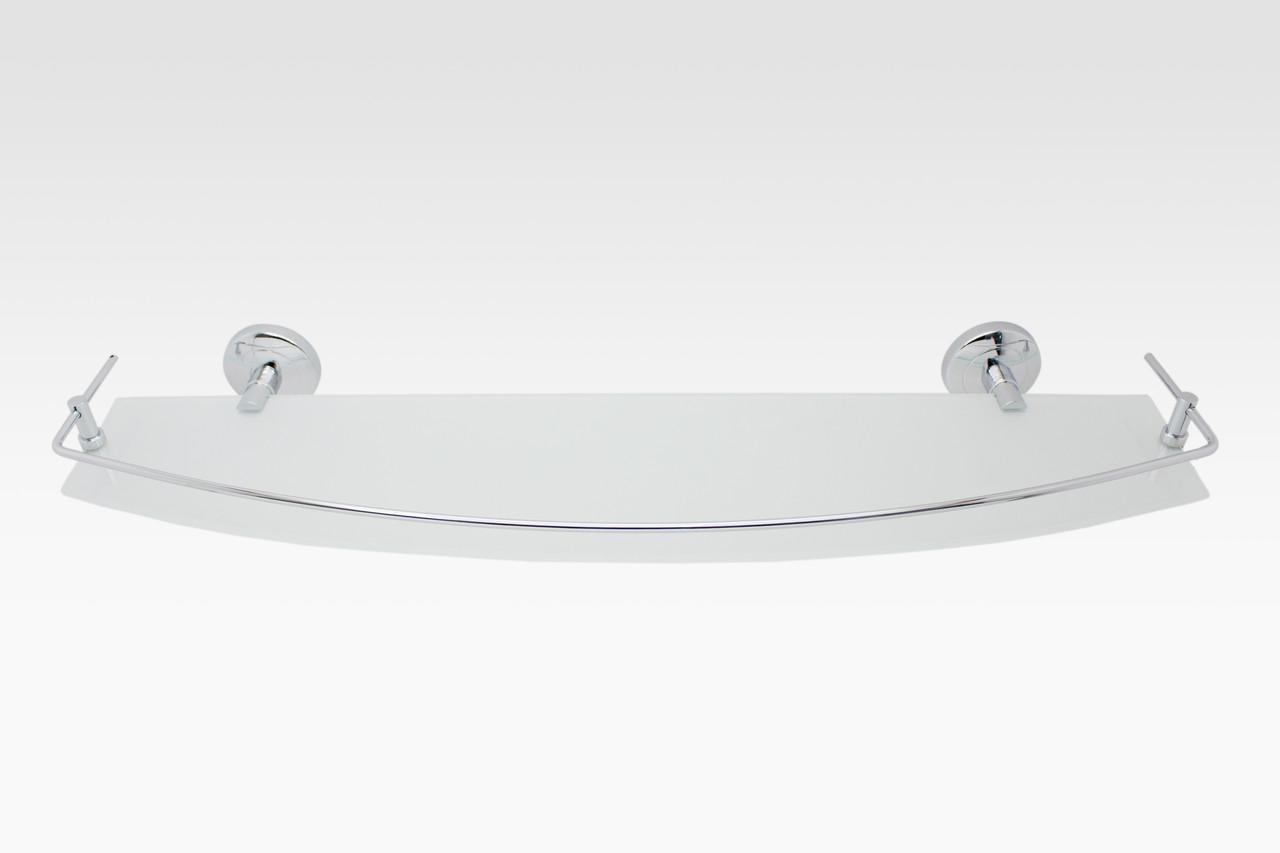 Полка со стеклом 50 см латунь серия Nova