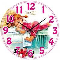 Часы настенные Во сне Детская серия МДФ круг 25 см