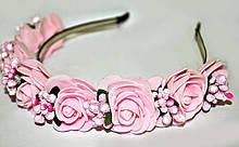 Розовый обруч с розами