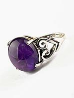 Красивое кольцо с аметистом