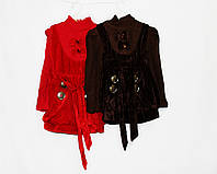 Платье детское велюровое с вязаными рукавами. 0858, фото 1