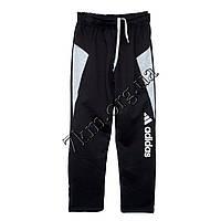 Спортивные штаны детские Реплика Adidas юниоры (10-15 лет) трикотажные Черные Оптом.