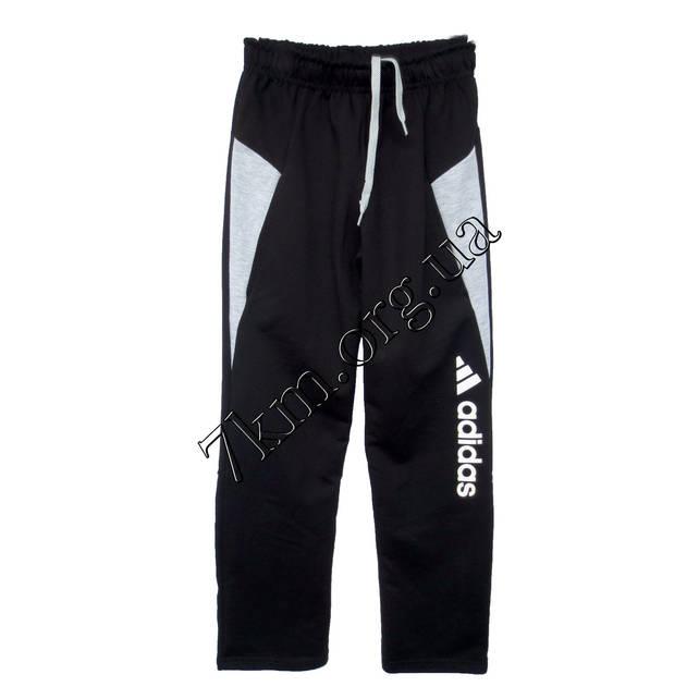 1f4561181523 Спортивные штаны детские Реплика Adidas юниоры (10-15 лет) трикотажные  Черные Оптом.