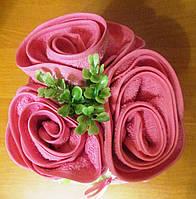 Букет роз из махровых салфеток