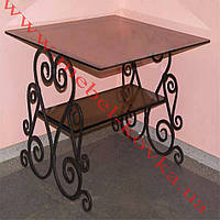 Кованый стол со стеклянной столешницей53