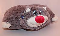 Плюшевая подушка-игрушка кот 45 см.
